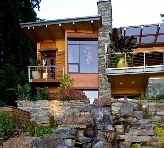 Lake Washington View Home Slider
